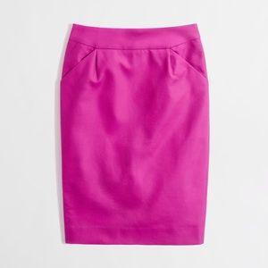 "J.Crew Factory ""The Pencil Skirt"" in Fuchsia"